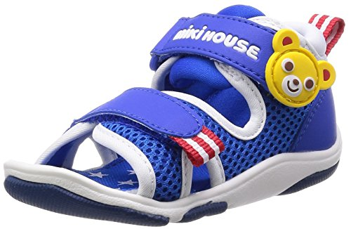 [Mikihouse] MIKIHOUSE mikihouse toe guard double Russell baby Sandals 12-9306-784 073 (white x blue / 15)