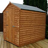 7 x 5 Overlap OSB Apex windowless Shed, garden shed, storage, wooden store from Buttercup Farm