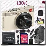 Leica C CMOS WiFi NFC Digital Camera (Gold 18485) + 32GB SDHC Class 10 Card + HDMI Cable + Soft Camera Case + 12pc Leica Saver Bundle