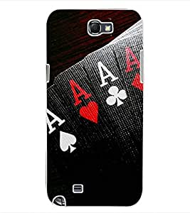 ColourCraft Jackpot Design Back Case Cover for SAMSUNG GALAXY NOTE 2 N7100