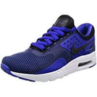 Nike Men's Air Max Zero Running Shoes (Black/ Paramount Blue/ Binary Blue)