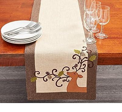 "Deer Applique Christmas Table Runner ~ (72"" x 13"")"