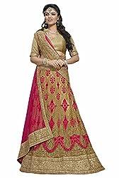 Maroosh Women's Beige Colour Bollywood style lehenga choli