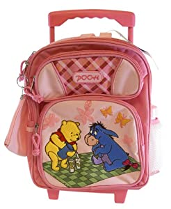 Disney Winnie The Pooh Rolling Backpack - Kid Size Pooh Wheeled Backpack