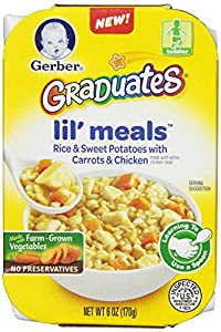 Gerber Graduates Lil Meals, Rice, Sweet Potato, Carrot and Chicken, 6 Count