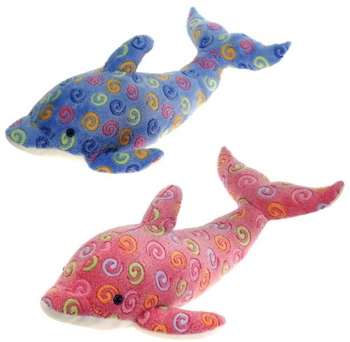 """23"""" 2 Assorted Color Swirl Dolphins Case Pack 24"""