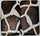 Bobbie Brooks Girafe Print / Animal Print Fashion Wallet Bi-fold Padded 7 Inches X 4 Inches