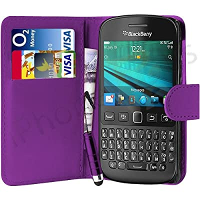 iPhone R Us® PURPLE WALLET FLIP CASE AND MINI STYLUS PEN FOR BLACKBERRY 9720 from iPhone R Us