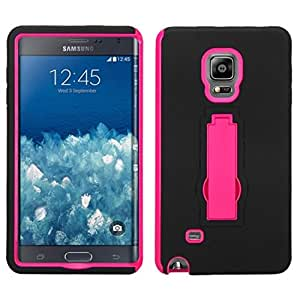 MyBat Asmyna SAMSUNG N915T (Galaxy Note Edge) Symbiosis Stand Protector Cover - Retail Packaging - Black/Pink
