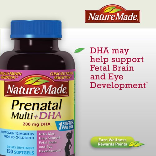 Prenatal Multivitamins With Dha; 150 Counts