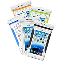 Ace Teah Waterproof Universal Phone Case 5-Pack (Assorted Colors)