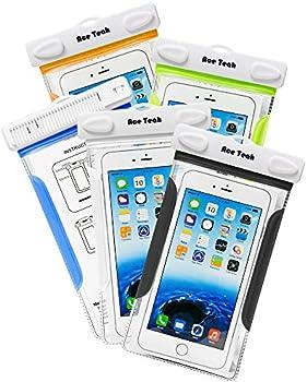 5-Pack Ace Teah Waterproof Universal Phone Case