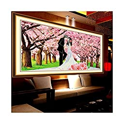 5D Diamond Painting Wedding Cross Stitch First Love Romantic Sakura Lovers