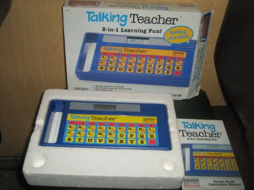 1986 Tiger Electronics Coleco Takling Teacher Play & Learn Electronics Model#8100 front-220611