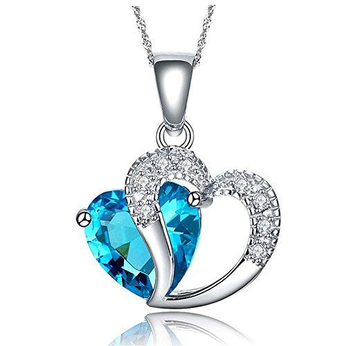 Swarovski Element blue / white / amethyst/ heart