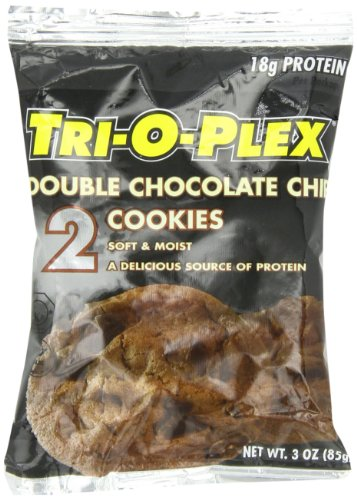 Tri-O-Plex Cookies, Double Chocolate Chip, 3 Ounce Package (Pack of 12)