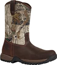 Georgia Mens Riverdale WP Work Distressed Leather/camo Leather Boot 12 M US