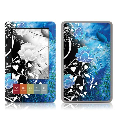 Peacock Sky Design Protective Decal Skin Sticker (Matte Satin Coating) for Barnes and Noble NOOK (Black and White LCD) E-Book Reader - Matte Satin Coating
