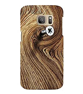 printtech Wood Pattern Nail Back Case Cover for Samsung Galaxy S7 / Samsung Galaxy S7 Duos with dual-SIM card slots