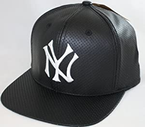 New York Yankees American Needle Limited Edition Faux Leather Delirious Snapback Cap by American Needle