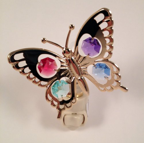 Butterfly Night Light..... With Mixed Color Swarovski Austrian Crystals front-868535