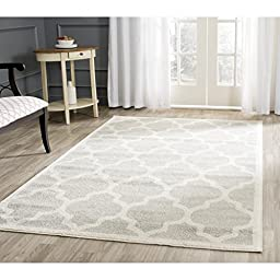 Safavieh Amherst Collection AMT420B Light Grey and Beige Indoor/ Outdoor Area Rug, 5 feet by 8 feet (5\' x 8\')