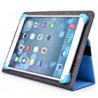 Kroo Universal Multi Fit 8 to 10 Inches Tablet Folio Case, Light Blue (MU10EXB2-8353)