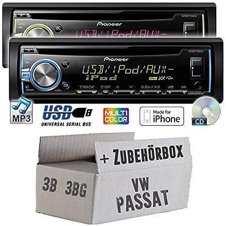 VW Passat 3B + 3BG - Pioneer DEH-X3800UI - CD/MP3/USB Autoradio - Einbauset