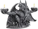 Dark Justice Dragon Gargoyle Statue Sculpture Candleholder