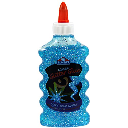 Elmer's Washable Classic Glitter Glue, 6 oz. Bottle, Blue (E323)