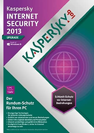 Kaspersky Internet Security 2013 5 Lizenzen Upgrade (DVD-Box)