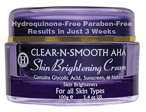 Skin Brightening Cream: Skin Lightening & Whitening from 4 Natural Skin Lighteners & Exfoliating Agents. Lighten Dark Age Spots. Effective Safer Bleaching Substitute to Hydroquinone for Even Skin Tone