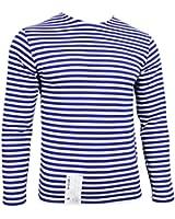 Russian Paratrooper Telnyashka T-Shirt - Blue Stripes Long Sleeve