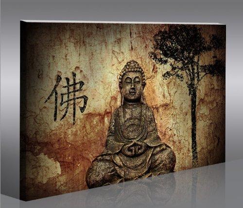 Buddha v10 100x65 quadri moderni intelaiati pronti da appendere fotografia formato xxl - Quadri da appendere in bagno ...