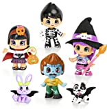 Pinypon - Pinymonsters, pack de 4 figuras y 2 pets (Famosa 700010636)