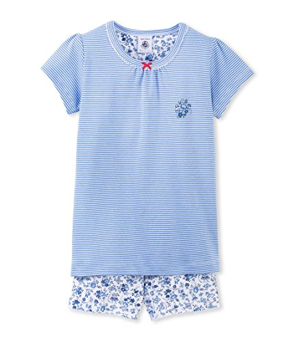Petit Bateau Bend, Camicia da Notte Premaman Bambina, Multicoloured-Multicolore (Porcelaine/Ecume), 4 Anni