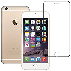 AirPlus AirGuard 9H Premium Tempered Glass Full Screen Protector with colour border for iPhone 6[HIGH DEFINITION GLOSSY CLEAR-BLACK]