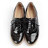 おじ靴 エナメルウィングチップオックスフォードシューズ
