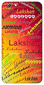 Lakshan (Aim) Name & Sign Printed All over customize & Personalized!! Protective back cover for your Smart Phone : Moto X-Play