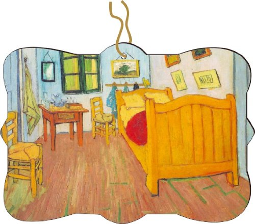 Rikki Knighttm Van Gogh Art The Bedroom In Arles Design Tree Ornament / Car Rear View Mirror Hanger front-597190