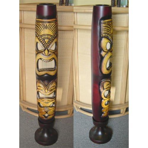 Rattan palm tree wood floor lamp for Wood tree floor lamp