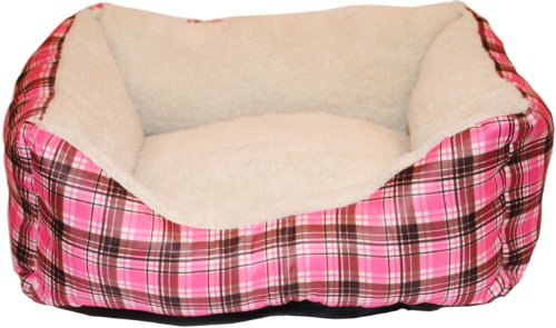 Brinkmann Pet 18-Inch by 14-Inch Plush Box Bed, Pink