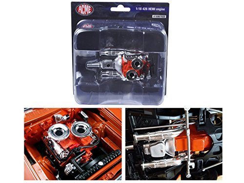 Hemi Bullet Hemi 426 Engine with Headers and Transmission Replica 1/18 by Acme (Hemi Bullet compare prices)