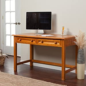 Casey Writing Desk - Honey Maple by Fashion Bed Group