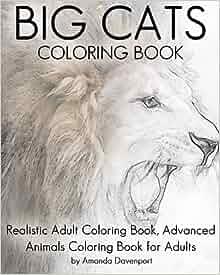 Amazon.com: Big Cats Coloring Book: Realistic Adult ...