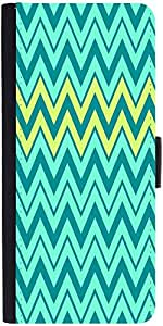 Snoogg Aqua Shades 2576 Graphic Snap On Hard Back Leather + Pc Flip Cover App...