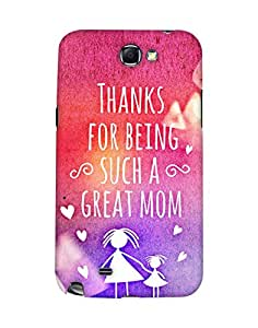 Mobifry Back case cover for Samsung Galaxy Note II N7100 Mobile ( Printed design)