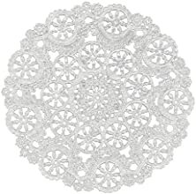 Royal Medallion Lace Round Paper Doilies 12-Inch Pack of 8 B23006
