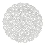Royal Medallion Lace Round Paper Doilies, 12-Inch, Pack of 8 (B23006)