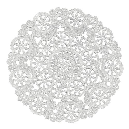 Royal Medallion Lace Round Paper Doilies 8-Inch Pack of 20 (B23004)